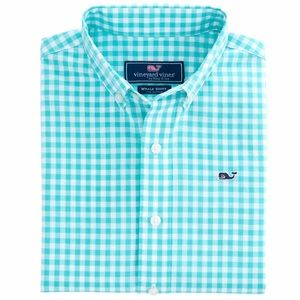 Vineyard Vines Great Harbor Gingham Whale Shirt